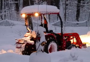 kubota in snow