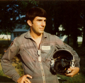 01a-004 BBB Second lieutenant Harvey at pilot training at Columbus Mississippi