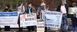 big drone protest
